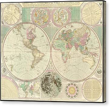World Map Canvas Print by Gary Grayson