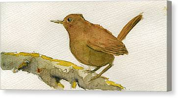 Wren Canvas Print - Wren Bird by Juan  Bosco