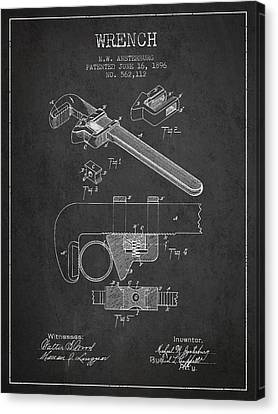 Wrench Patent Drawing From 1896 Canvas Print by Aged Pixel