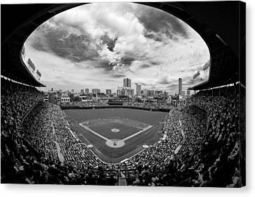 Cubs Canvas Print - Wrigley Field  by Greg Wyatt