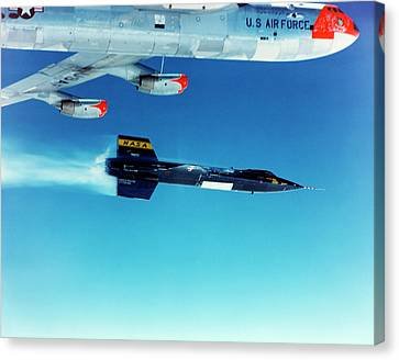 X-15 Launch From A Boeing B-52 Canvas Print