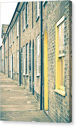 Yellow Door Canvas Print by Tom Gowanlock