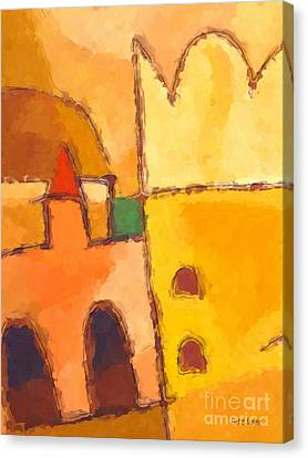 Yellow Impression Canvas Print