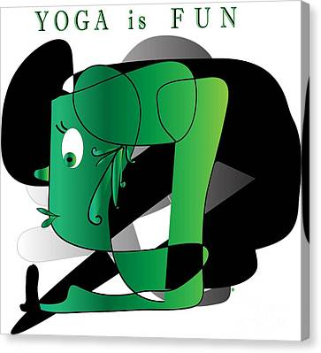 Canvas Print featuring the digital art Yoga by Iris Gelbart
