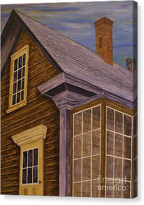Canvas Print featuring the painting You Can Always Go Home by Jane Chesnut