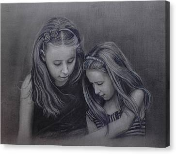 Young Sisters Canvas Print by Colleen Gallo