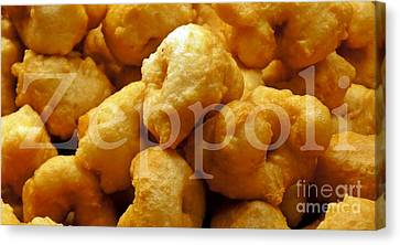 Canvas Print featuring the photograph Zeppoli by Lilliana Mendez