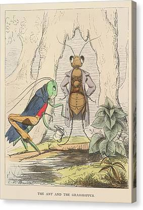 Aesop Fables Canvas Print by British Library