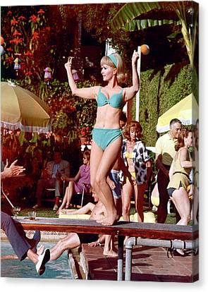 Debbie Reynolds Canvas Print by Silver Screen