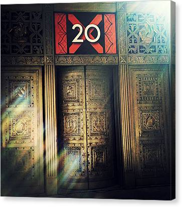 20 Exchange Place Art Deco Canvas Print by Natasha Marco