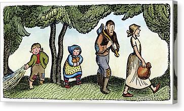 Grimm Hansel And Gretel Canvas Print by Granger