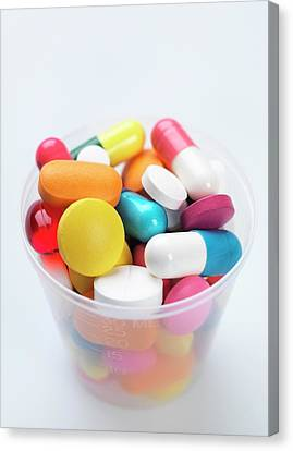 Healthcare And Medicine Canvas Print - Pills by Tek Image