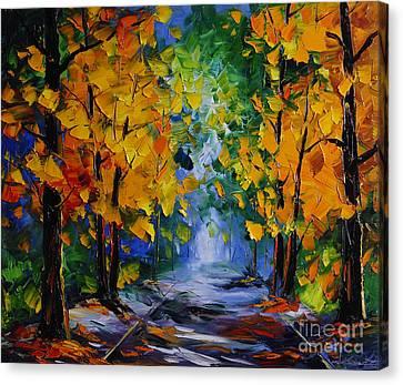Autumn Landscape Canvas Print by Willson Lau