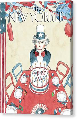 New Yorker July 4th, 2005 Canvas Print