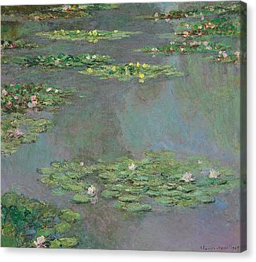 Water Lilies Canvas Print by Claude Monet