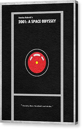 Kubrick Canvas Print - 2001 A Space Odyssey by Inspirowl Design