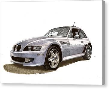 B M W M Coupe 2001 Canvas Print by Jack Pumphrey