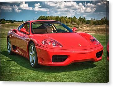 Red Ferrari Canvas Print - 2001 Ferrari 360 Modena by Sebastian Musial