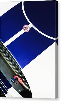 2001 Canvas Print - 2001 Shelby Cobra Replica Hood Emblem by Jill Reger