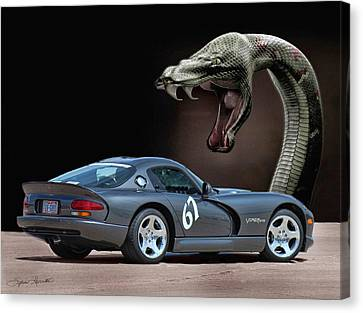 2002 Dodge Viper Canvas Print by Sylvia Thornton