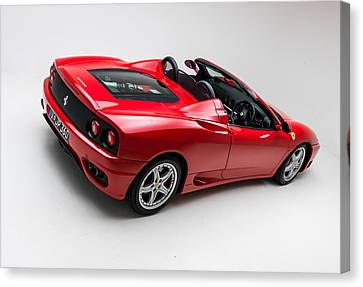 Canvas Print featuring the photograph 2002 Ferrari 360 Spider by Gianfranco Weiss