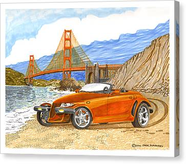 Prowler Canvas Print - 2002 Plymouth Prowler by Jack Pumphrey