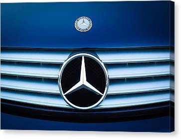 2003 Cl Mercedes Hood Ornament And Emblem Canvas Print by Jill Reger