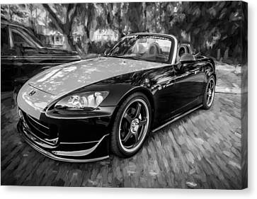 Highspeed Canvas Print - 2004 Honda S2000 Roadster Painted Bw  by Rich Franco