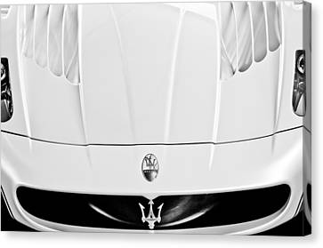 2005 Maserati Mc12 Hood  Emblem 2 Canvas Print by Jill Reger