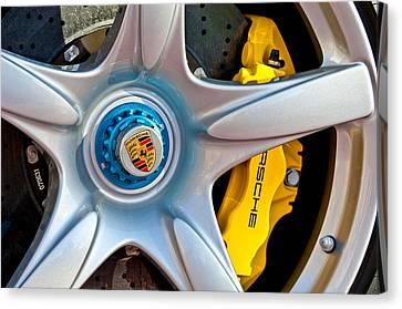 2005 Porsche Carrera Gt Wheel Emblem -3135c Canvas Print by Jill Reger