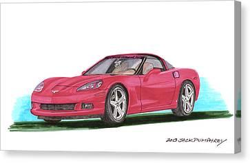 2007 Corvette C 6 Canvas Print by Jack Pumphrey