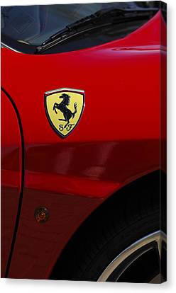 2007 Ferrari F430 Spider F1 Canvas Print by Jill Reger
