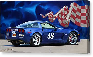 2007 Z06 Corvette Canvas Print