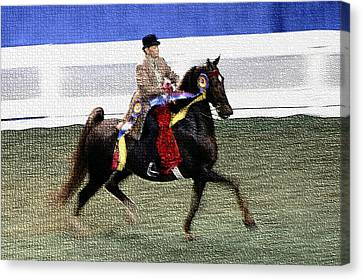 2008 World Champions Canvas Print - 2008-a World Championship Horseshow - Louisville Ky by Thia Stover