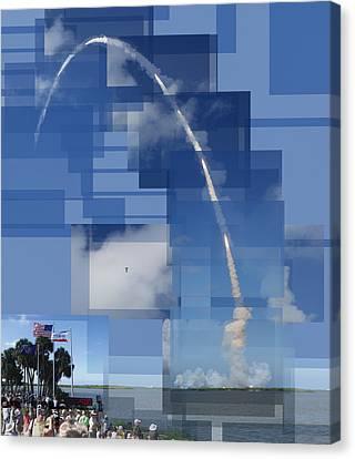 Gabby Giffords Canvas Print - 2008 Space Shuttle Launch by Stephen Farley