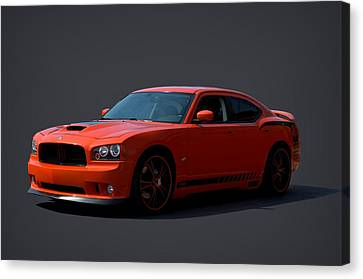 Canvas Print featuring the photograph 2009 Dodge Srt8 Super Bee by Tim McCullough