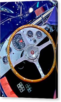 2010 Allard J2x Mk II Commemorative Edition Steering Wheel Canvas Print by Jill Reger