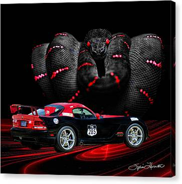 2010 Dodge Viper Canvas Print by Sylvia Thornton