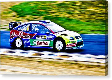 2010 Ford Focus Wrc Canvas Print by motography aka Phil Clark