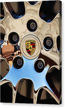 2010 Porsche Panamera Turbo Wheel Canvas Print by Jill Reger