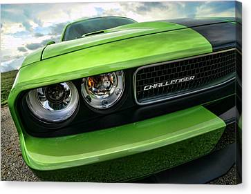 2011 Dodge Challenger Srt8 Green With Envy Canvas Print by Gordon Dean II