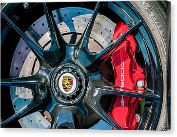 2011 Porsche 997 Gt3 Rs 3.8 Wheel Emblem -0989c Canvas Print