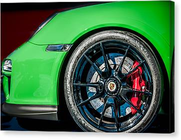 2011 Porsche 997 Gt3 Rs 3.8 Wheel Emblem -0998c Canvas Print