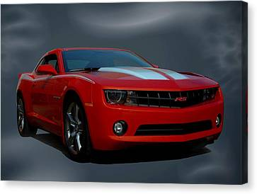 Canvas Print featuring the photograph 2012 Camaro Rs by Tim McCullough