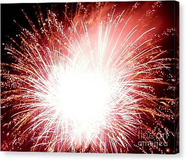 Canvas Print featuring the digital art 2012 Fireworks by Angelia Hodges Clay