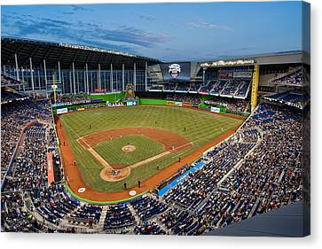2012 Marlins Park Canvas Print by Mark Whitt