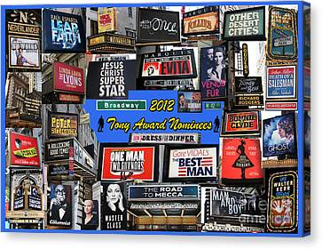 2012 Tony Award Nominees Collage Canvas Print by Steven Spak