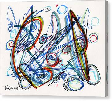 2013 Abstract Drawing #12 Canvas Print by Lynne Taetzsch