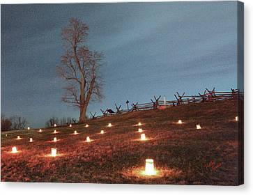 Canvas Print featuring the photograph 2013 Antietam Near Bloody Lane by Judi Quelland