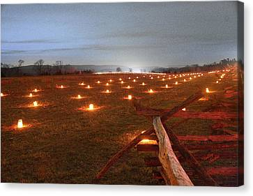Canvas Print featuring the photograph 2013 Antietam Near The Cornfield by Judi Quelland